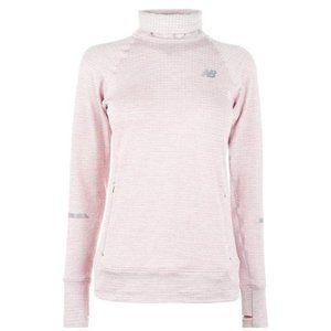 New Balance Heat Grid Sweatshirt Pullover Pink S/M